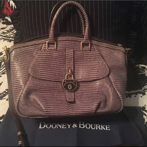 Dooney & Bourke Lizard Embossed Satchel Handbag